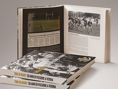 CUS Verona Rugby 50 history design editorial book sport rugby