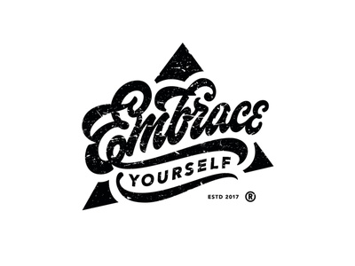 Embrace Yourself customlettering sketch script handlettering calligraphy customtype type lettering typography logotype