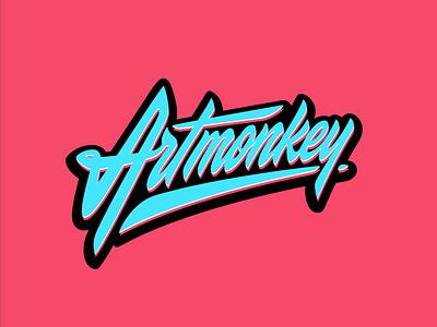Artmonkey script handlettering brand calligraphy logo customtype type lettering typography logotype
