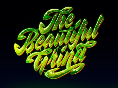 The Beautiful Grind type typography customlettering font handlettering script calligraphy customtype lettering