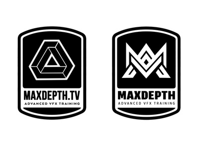 maxdepth geometric design geometric geometry type vector brand branding logo design