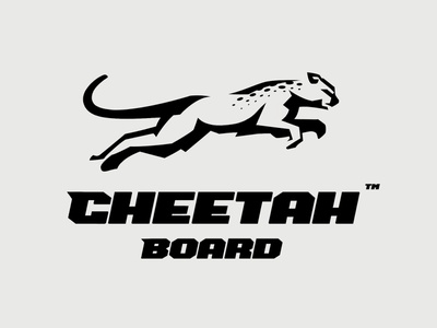 Cheetan Board icon branding vector gepard leopard cheetah design illustration brand logo type logotype