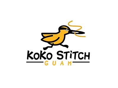 Koko Stitch branding art koko bird aftereffects ae design illustration logo brand logotype motion animated gif animated animation