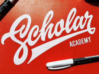 Scholar script font scholar brand logotype customtype typography logo calligraphy type lettering