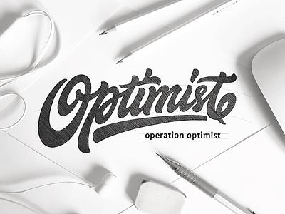 Optimist optimist brand logotype customtype typography logo calligraphy type lettering
