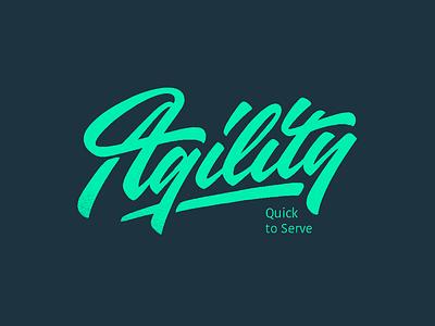 Agility handtype customlettering handlettering calligraphy customtype logo type logotype typography lettering