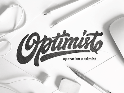 optimist customlettering sketch handlettering calligraphy customtype logo type logotype typography lettering