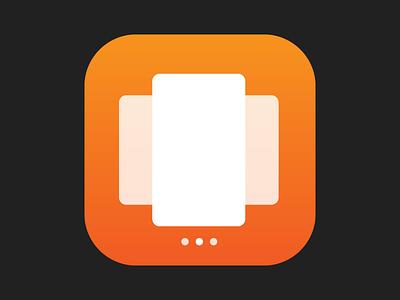 Multitask icon application apps cards gradient flat multitasking icon ux ui design ios multitask
