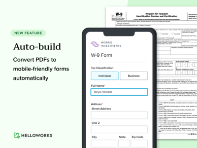 Auto-build for HelloWorks scanning ocr pdf mobile forms