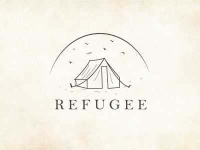 REFUGEE illustration logo vector design refugee