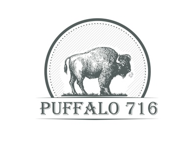 Puffalo animal annimal illustration company flat vector logo design