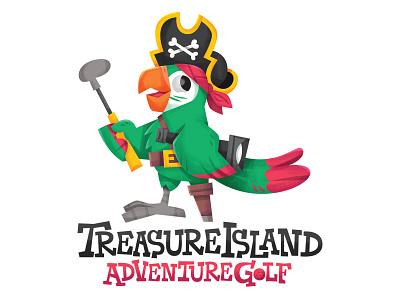 adventure golf! logo eva galesloot vector character illustration skwirrol