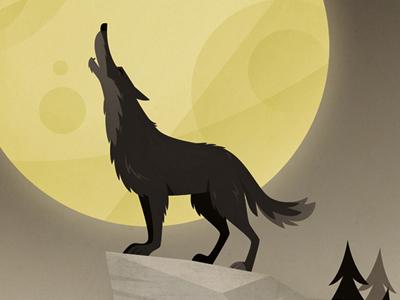 howlin' wolf illustration skwirrol wolf moon howling