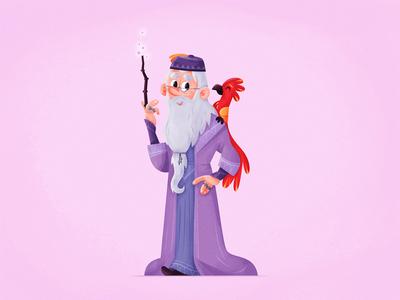 dumbledore! wizard albus fanart dumbledore skwirrol harrypotter