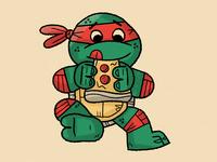 turtles <3 pizza