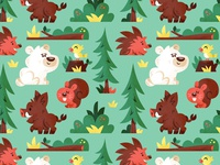 forrest animals pattern