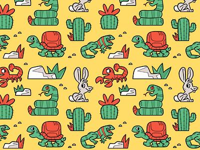 desert pattern desert illustration spoonflower pattern skwirrol