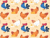 chickens and rooster pattern