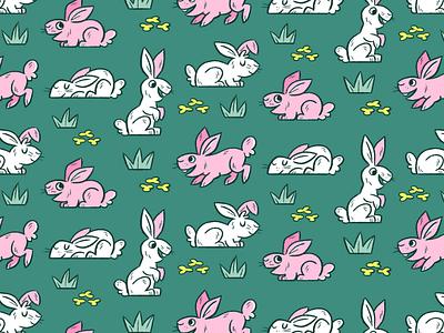 rabbit pattern rabbit illustration spoonflower pattern skwirrol