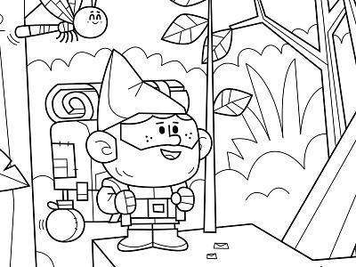 coloring page vector illustration skwirrol