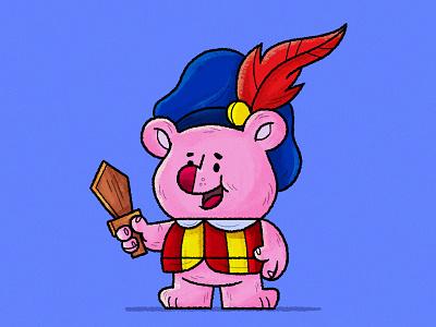 cubbi gummi character gummibears gummi illustration skwirrol