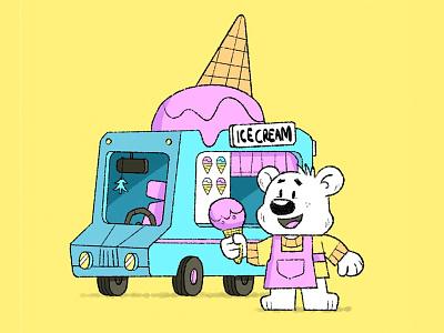ice cream truck character eva galesloot skwirrol