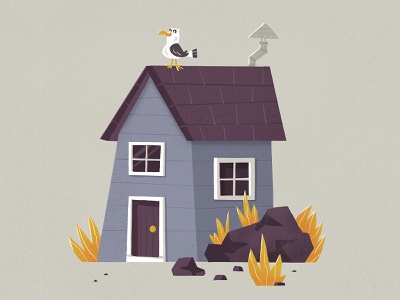 steven seagull nature cabin procreate character illustration eva galesloot skwirrol