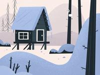 cabin snow SKWIRROL