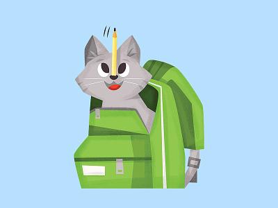 cat! cat vector character eva galesloot illustration skwirrol