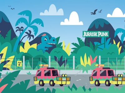 JurassicPunk vector illustration skwirrol