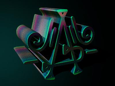 A - Decorative 3D 3dtypography 3dtype 3d art 36daysoftype dimensional lettering dimensional type dimension lettermark decorative creative logo typography