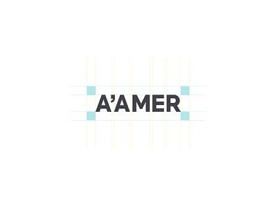 A'amer logotype design anatomy logotype identity creative logodesign branding typography logo design