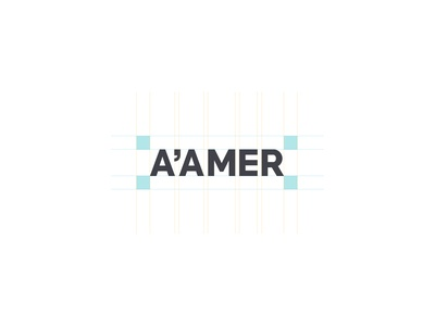 A'amer logotype design anatomy