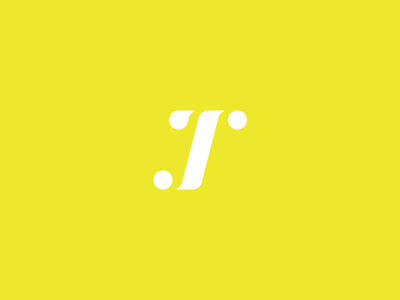 J.T Monogram combination reduction yellow branding logo monogram jt simple