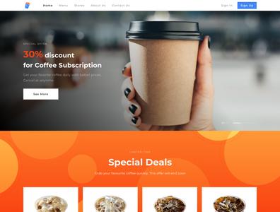 Moto Coffee Landing Page