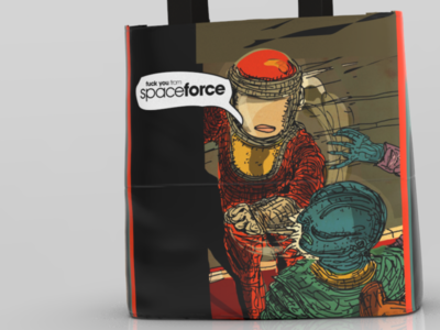 Space Force Tote Bage