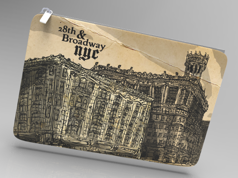 Gilded Age of NYC coin bag Illustration
