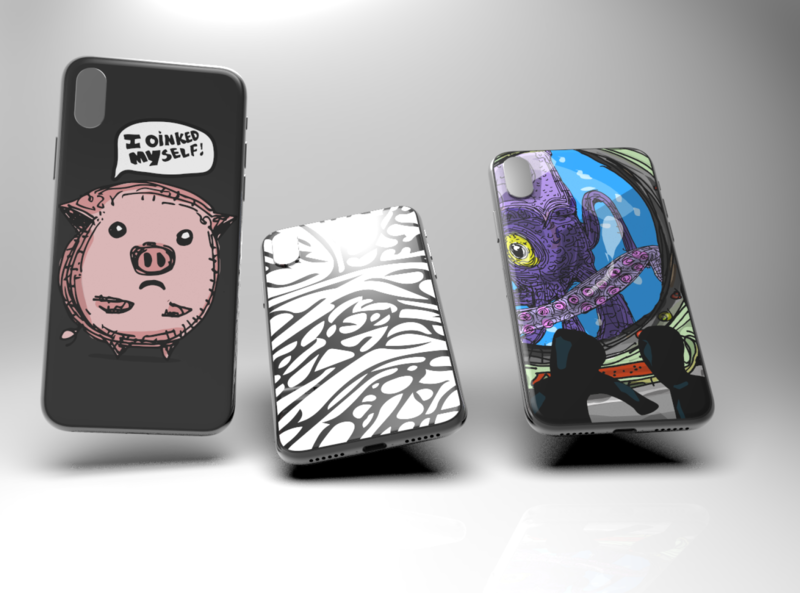 Phone cases for fashion ux nyc logo cool ios branding poster app design illustration