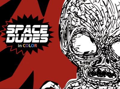 Space Dudes nyc logo ios cool branding app poster art design illustration ios design