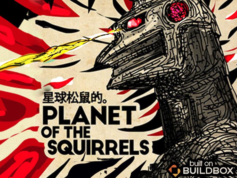 Planet of the Squirrels no code ios branding poster app design illustration