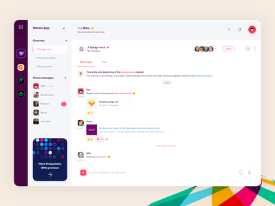 Slack app chat app messanger message chat pattern creative thinking redesign slack app slack app minimal ux flat web illustration ui design