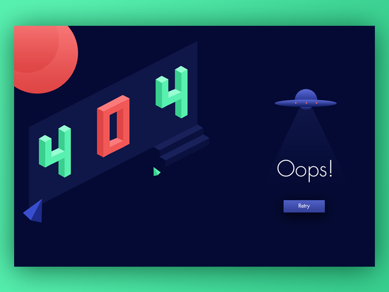 404 page oops error web ux ui tv photo material interface color background 404