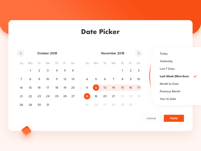 Date Picker presentation from selection date red date picker datepicker calendar app app calendar web ui design