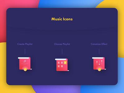Trend Music Icon 3 multicolors playmusic customize choose icons playlist create music branding vector logo dribbble illustration design