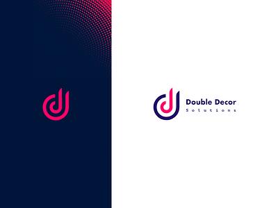 Double Decor Logo website flat logo art decor double dd d icon vector typography branding dribbble illustration design