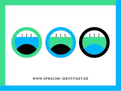 Sprache & Identität voice language graphic geometric forms