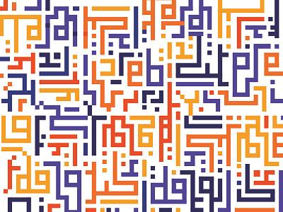 Pattern pixel color pattern