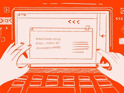neis webdesign neis red devices website clean-tech branding procreate illustration webdesign design