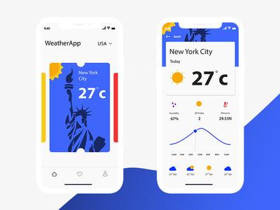 iOS WeatherApp weather ux ui iphonex ios design clean app