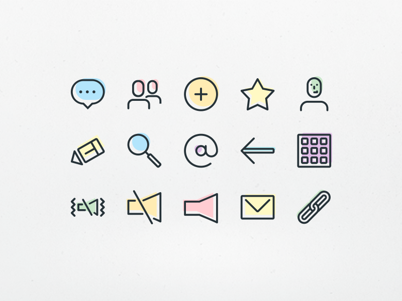 Telephone & Contacts Icons favourites sms text user address contacts phone freebie